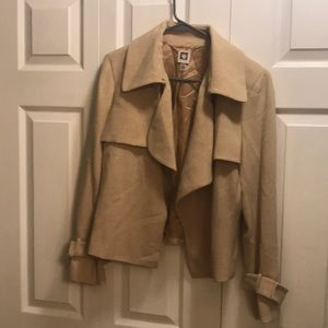 Anne Klein blazer one hook in front buckle sleeve